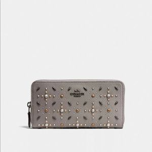 New Grey Studded Coach wallet